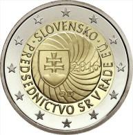 "ESLOVAQUIA  /  SLOVAKIA     2€ Bimetálica 2016   ""Primera Presidencia Consejo De La UE""  SC/UNC   T-DL-11.709 - Slovaquie"