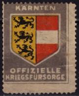 Kärnten Carinthia Koroška - WW1 - Austria Hungary - KuK - Kriegsfürsorgeamt WAR AID- LABEL CINDERELLA VIGNETTE - WW1