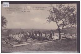 DISTRICT D'ORBE /// MONTRICHER - COLONIES DE VACANCES DE BOIS DESERT - BENEDICTION DE LA 1ere PIERRE DU NOUVEAU BATIMENT - VD Vaud