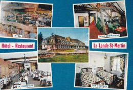 Carte 1975 HAUTE GOULAINE / HOTEL RESTAURANT LA LANDE SAINT MARTIN - Haute-Goulaine