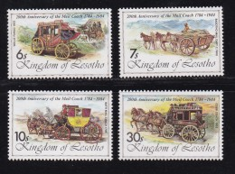 LESOTHO, 1984, MNH Stamps, Coaches, Mi 478-482,   ,#2675 - Lesotho (1966-...)