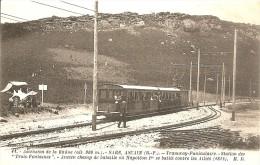 64 TRAMWAY SARE ASCAIN FUNICULAIRE ASCENSION DE LA RHUNE STATION DES TROIS FONTAINES NAPOLEON 1er SE BATTIT EN 1813 - Sare