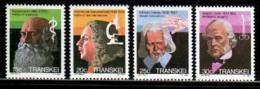 TRANSKEI, 1982,  MNH Stamp(s), Heroes Of Medicine,   Nr(s) 107-110 - Transkei