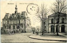 Doullens (80) - Hôtel De Ville Et Tribunal (Circulé En 1908) - Doullens