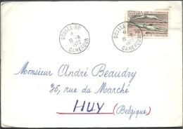! - Cameroun - Lettre Avec 1 Timbre - Envoi (en 1972) De Douala Vers Huy (Belgique) - Cameroun (1960-...)