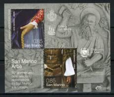 2012 - SAINT-MARIN - 20° Anniv. Delle Relazioni Diplomatiche Fra San Marino E Croazia - MNH - (**) -  New Mint - Blocchi & Foglietti
