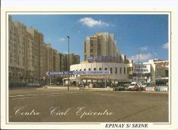 CPM - EPINAY SUR SEINE - 93 - Centre Commercial Epicentre - Centre De Controle Automobile - Abeille Carte - France