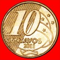 § HORSE AND SOUTHERN CROSS: BRAZIL★10 CENTAVOS 2011! LOW START★NO RESERVE! Pedro I (1798-1834) - Brazil