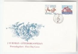 1994 SWEDEN FDC Stamps JH ROMAN OPERA  MUSIC THEATRE Cover - Music