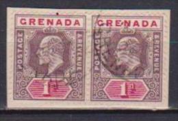 COLONIE INGLESI GRENADA  1905  EDOARDO VII YVERT. 49 USATO COPPIA VF - Grenada (...-1974)