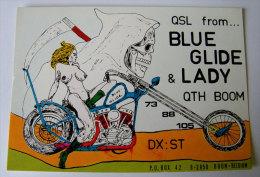 Kt 726 / QSL Card, Radio Amateur, Sexy Card, Boom, Belgium - Radio Amateur