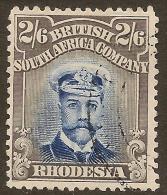 RHODESIA 1913 2/6 Indigo & Grey KGV SG 236 U #TC16 - Ohne Zuordnung