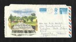 England Great Britain  Air Mail Postal Used Aerogramme UK To Pakistan - Gran Bretaña