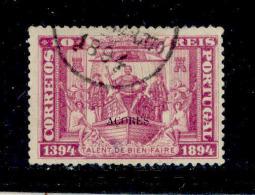 ! ! Azores - 1894 Infant Henry 10 R - Af. 61 - Used - Açores