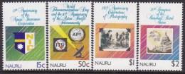 NAURU 1989 UPU Sc 358-61 Mint Never Hinged - Nauru
