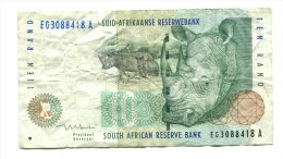 South Africa Rhino 10 Rand Banknote - South Africa