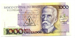Brazil 1 Cruzado Novo 'Overstamp' Banknote - Brazilië