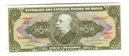 Brazil 5 Cruzeiros Banknote - Brazilië