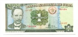 1995 Cuba 1 Peso Banknote - Cuba