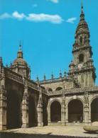 Z1286 - POSTAL - SANTIAGO DE COMPOSTELA - CATEDRAL - CLAUSTRO Y TORRE DEL RELOJ - La Coruña