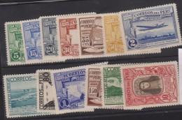 O) 1937 PERU, SET MINT, WELL CENTERED XF - Peru