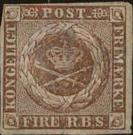 Denmark Scott #2b, 1851, Hinged - 1851-63 (Frederik VII)