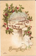 CPA COLORISEE FETE - BONNE ANNEE - Paysage Hivernal -  ENCH1202 - - Neujahr