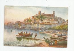 Cp , 06 , CANNES , Illustrateur : Tuck - Oilette , Serie 994 , N° 125 , Mont Chevalier Et Le Port , Bateaux , Vierge - Cannes