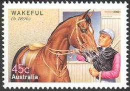 2002. AUSTRALIAN DECIMAL. Fauna. (Horses). Sport. (Horse Racing & Equestrian). 50c. Champions Of The Turf - Wakeful. CTO - 2000-09 Elizabeth II