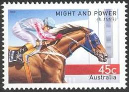 2002. AUSTRALIAN DECIMAL. Fauna. (Horse Racing & Equestrian). 50c. Champions Of The Turf - Might And Power. CTO. - 2000-09 Elizabeth II
