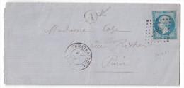 Cachet De Facteur / BOITE RURALE IDENTIFIEE (LUANT Pres Chateauroux) Sur LAC 1861 Affranchie Napoleon 14 Lpc 796 - 1849-1876: Période Classique