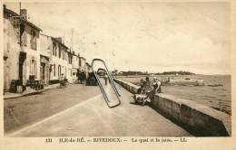 ILE DE RE -17- RIVEDOUX - LE QUAI ET LA JETEE - Ile De Ré