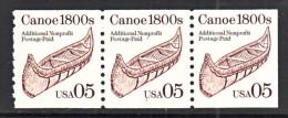 U.S. 2453  X 3    PLATE  1      **    CANOE - Coils (Plate Numbers)