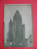 TRIBUNE TOWER.Home Of The Chicago Tribune.Small Postcard - Chicago