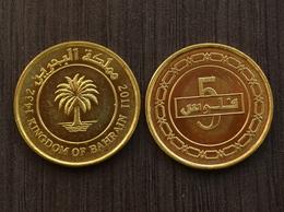 Bahrain 5 Fils  .1PCS ,UN . Middle East Coin - Bahreïn