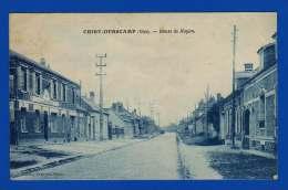 Chiry Ourscamp . Oise . Route De Noyon . Cpa : Ton Bleu . 4 Gds Plis . Timbre Abimé . - Otros Municipios