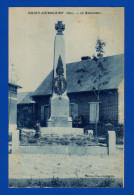 Chiry Ourscamp . Oise . Le Monument . Cpa : Ton Bleu . Pointes De Rousseur. - Other Municipalities