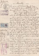 Timbres Fiscaux Copies Surchargés X 2  1920 Sur Sommation Nauzieres ( Nozières ) Vire Sur Lot - Montvalent  - Litige Vin - Manuscrits