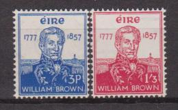 IRLANDA  IRELAND - 1957 AMMIRAGLIO W. BROWN 132/3 MNH - 1949-... Repubblica D'Irlanda