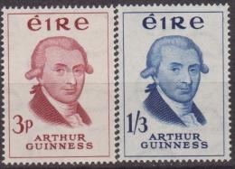 IRLANDA  IRELAND - 1959 BIRRERIA GUINNESS 142/43 MNH - 1949-... Repubblica D'Irlanda