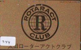 ROTARY International Sur Telecarte Japon (344) - Publicité