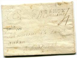 ORANGE Vaucluse Marque ORANGE (33mm) 1791 LENAIN N° 4   ..........G - 1701-1800: Précurseurs XVIII