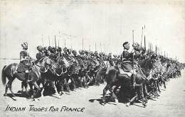 A-16 5326 :  MILITAIRES   INDIAN TROOPS FOR FRANCE - Guerra 1914-18
