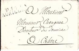 MARQUE POSTALE LAC  P 14 P AURILLAC A CAHORS   1812 - 1801-1848: Voorlopers XIX