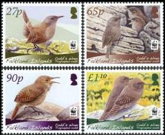 WWF Falkland Islands 2009 Cobb`s Wren Birds MNH - W.W.F.