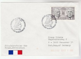 1989 SAVIGNY En Revermont FRANCE Stamps EVENT COVER 200th Anniv FRANCIS OUDOT  French Revolution - France
