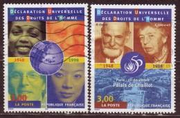 FRANCE - 1998 - YT  N° 3208 / 3209  -oblitérés - Droits De L'Homme - Francia
