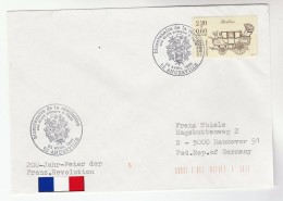 1989 ANCERVILLE FRANCE Stamps EVENT COVER 200th Anniv  French Revolution ECOLE PRIMAIRE - France