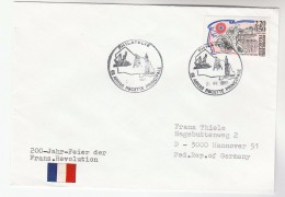 1989 Arras FRANCE Stamps EVENT COVER 200th Anniv  French Revolution - France
