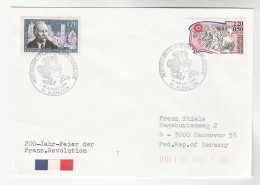 1989 Alcencon FRANCE Stamps EVENT COVER 200th Anniv  French Revolution - France